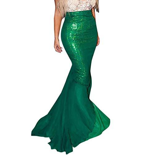 TYTUOO Damen Rock Damenmode Slim fit Phantasie Party Kleider Cosplay kostüm Paillette Schwanz Maxi röcke