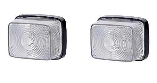 2 x Weiß Begrenzungsleuchte Seitenleuchte 12V 24V mit E-Prüfzeichen Positionsleuchte Seite Auto LKW PKW KFZ Lampe Leuchte Licht Set Paar Front Birne