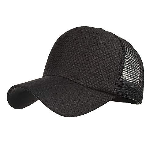 QinMM Sommer-Breathable Mesh-Baseballmütze Sport Hüte für Männer Cap Lightweight Breathable Soft and Comfortable