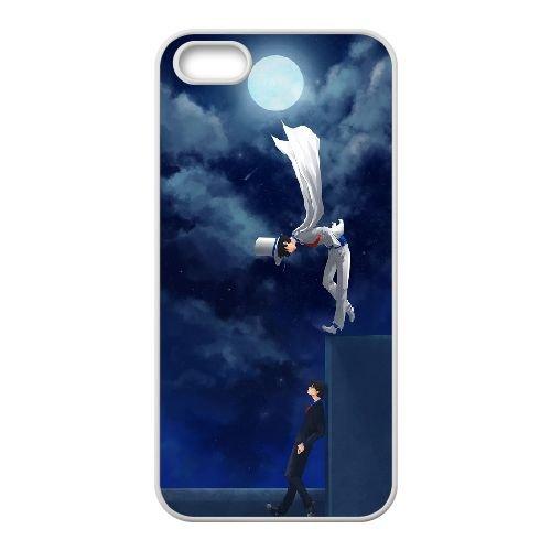 Detective Conan coque iPhone 4 4S Housse Blanc téléphone portable couverture de cas coque EBDXJKNBO10167