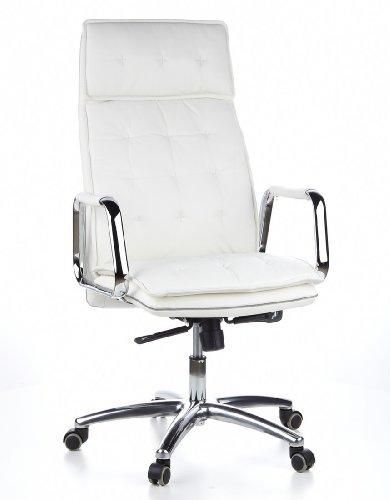 HJH OFFICE 600922 Bürostuhl / Chefsessel VILLA 20 Nappaleder elfenbein - 18