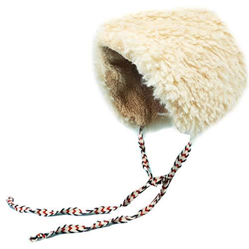 Nosterappou Nettes Gesicht kleine Dame Hut, im Freien warm, weich und angenehm zu berühren, schöne warme Mütze, Ohren von kalt, einfarbig Schnee Hut weibliche Winter Starke Winddichte ()