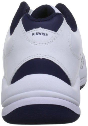 K-Swiss OPTIM OMNI IV 52780-109-M Unisex-Kinder Tennisschuhe Weiß (White/Navy)