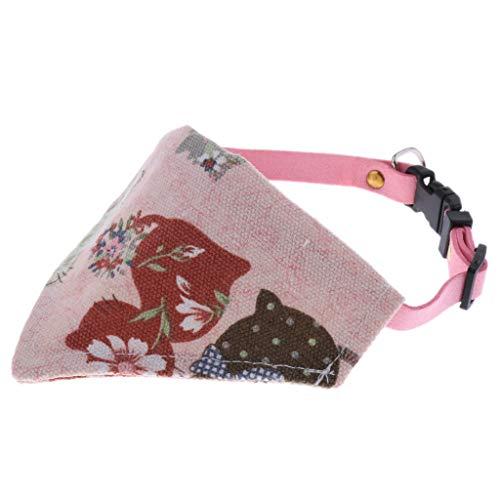 Zwei Kostüm Geschenk Halten Hunde Ein - Homyl Niedlich Dreieckstuch Dreiecks Halstuch Bandana Lätzchen für kleine Hunde und Katzen - Typ 2 Rosa