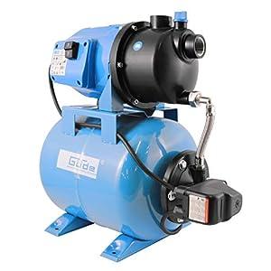 Güde 94667 HWW 3100 K Hauswasserwerk (600W Motorleistung, 3100 l/h Fördervolumen, 24l Kessel, 1