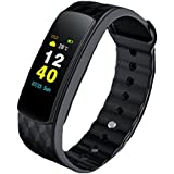 RCE - I6 HRC [Color OLED Screen] Smart Band With Heart Rate Monitor, Multiple Sports Mode Fitness Bracelet For Android IOS