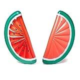 GYFY Doppia Foglia di Colore Ananas Anguria Galleggiante Fila Gonfiabile Nuoto Anello Adulto Moda Ananas Galleggiante Sedia di Salvataggio (Inviare Pompa dell'Aria Auto),Watermelon