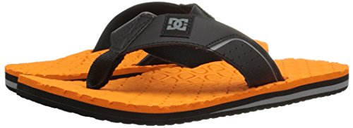 DC - Sandales Kush Hommes - Black/Black/Orange