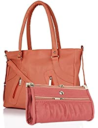 SALEBOX Long Belt Leather Hand Bag With Long Belt & Top Handle Leather Hand Bag With Wallet Combo Ideal For Women...