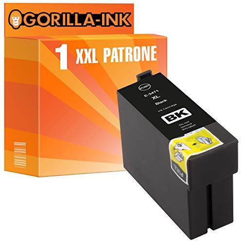 epson nachfuellpatronen Gorilla Ink 1 Tinten-Patrone XXL GI34XL Black für Epson Workforce Pro WF 3720 Series WF 3725 DWF WF 3720 DWF WF 3720 DW