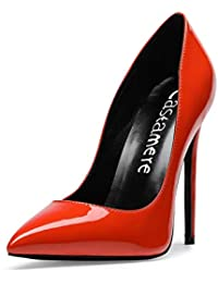 24742fd71406c CASTAMERE Escarpins Femme Talon Doublure Noir Sexy Talon Haut Aiguille Bout  Pointu High Heels Chaussures Stilettos