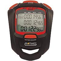 Motus Millennium MT50 Cronometro Sportivo, Unisex-Adulto, Nero/Rosso, Taglia Unica