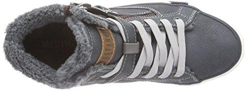 Mustang Unisex-Kinder Hohe Sneakers Blau (847 blau-grün)