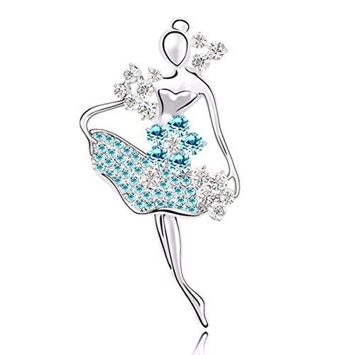 Hardwordland schal Elegante Crystal glänzend Mode Mode schöne Brosche Pins Rücken Ballett Mädchen Pin Kleidung Accessoires -
