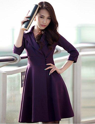 lyq-nuo-wei-si-womens-elegant-lapel-wrap-dress-with-buttons-wine-2xl-wine-2xl