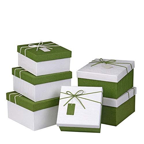 chachteln Geschenkboxen mit Deckel verschiedene Größen quadratische Form Band dekorative Leckereien Boxen Kuchen Kekse Leckereien Süßigkeiten Schokolade Dusche Seifen Parfüm Schmuck ()