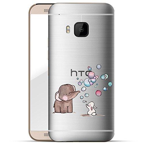Finoo HTC one M9 Hard Case Handy-Hülle mit Motiv   dünne stoßfeste Schutz-Cover Tasche in Premium Qualität   Premium Case für Dein Smartphone  Elefant Hase Seifenblasen