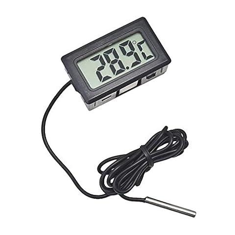 JVJ LCD plastique 1m Sonde thermomètre numérique Testeur câble