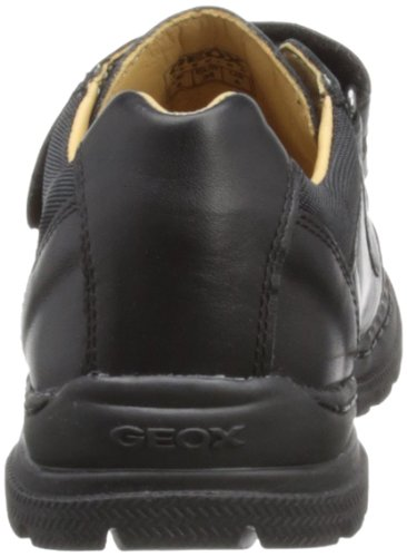 Geox William A, Jungen Sneakers Black Leather