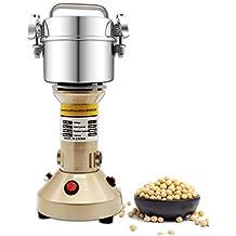 CGOLDENWALL Molino de Cereales Eléctrico 150g Molinollo de Hierba Oscilante de Acero Inoxidable Alta Velocidad Superfina