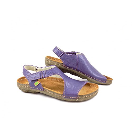 El Naturalista Womens Torcal N309 Leather Sandals Violet