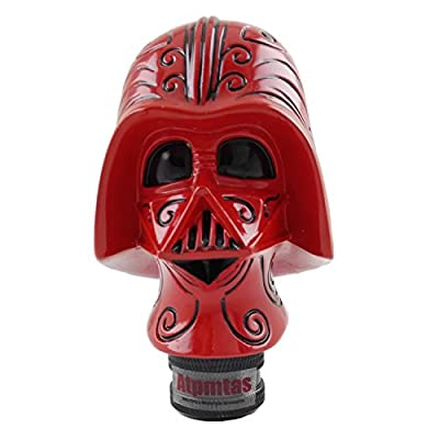 Atpmtas Pommeau de levier de vitesse universel Star Wars Dark Vador Rouge