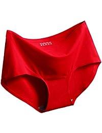 Qiao Nai(TM Ropa Interior de Mujer Seda de Hielo Sin Costura Calzoncillos Transpirable Braguitas