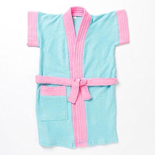 Pebbles Baby Blue & Pink Bath Robe