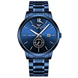 NIBOSI Mens Analogue Quartz Watch with Stainess Steel Strap Top Brand Luxury Business