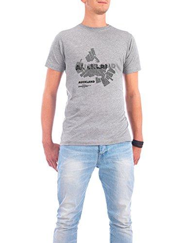 """Design T-Shirt Männer Continental Cotton """"Auckland light"""" - stylisches Shirt Abstrakt Städte Kartografie Reise Architektur von ShirtUrbanization Grau"""