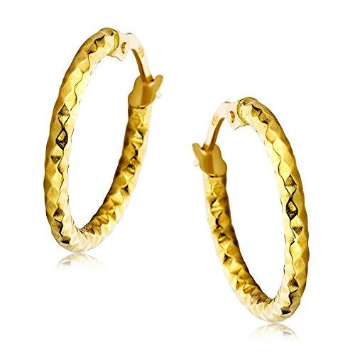 Orovi Damen Gold Creolen Ohrringe GelbGold Ohrringe 18 Karat (750) Ohr-Schmuck