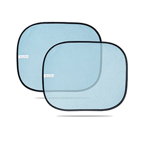 Preisvergleich Produktbild Auto Sonnenschutz Seitenscheibe für Kinder (Schwarz-Blau)