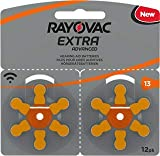 Rayovac, batteria per protesi acustiche, modello Extra Advanced Zinc Air 120x Typ 13 orange
