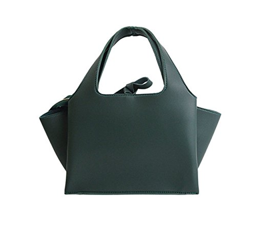 Frauen-Mädchen-beiläufige Nylon-Rucksack-Geldbeutel Reisen Arbeit College-Shool Tasche Zipper Handtasche Green
