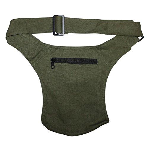 Freak Scene® Tasche ° Gürteltasche ° John ° Bauchtasche ° Hüfttasche, alle Farben!!! grün-oliv uni