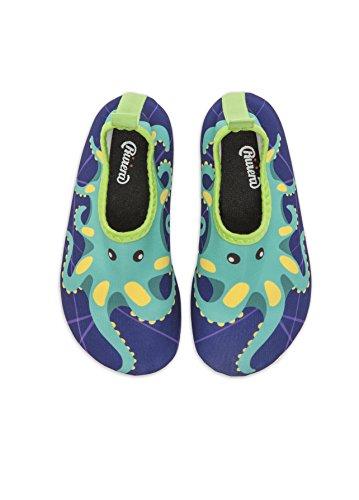 new styles 1e3f5 b588a Riviera Marine Boy Collection, Scarpe da Mare Bambino (Aqua Shoe Kids),  Scarpette da Piscina in Neoprene con Tre animaletti: Polpo, Tartaruga e ...
