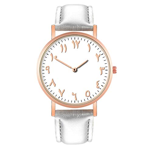 e Elegant Quarzuhr Beiläufige Leder Armbanduhr Damenschmuck (grau) ()