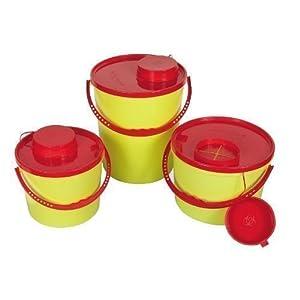 AMPRI Kanülenabwurfbehälter – 5 Liter – durchstichsicher – 1 Stück