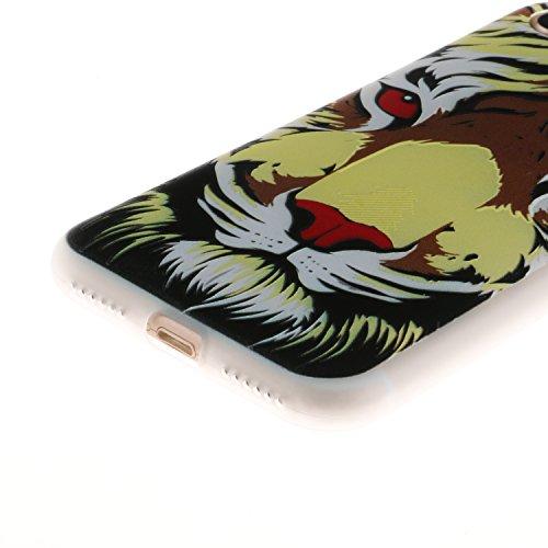 iPhone 7 Hülle, Voguecase Silikon Schutzhülle / Case / Cover / Hülle / TPU Gel Skin für Apple iPhone 7/iPhone 8 4.7(Lace Teppich 06) + Gratis Universal Eingabestift Roter Augen Tiger
