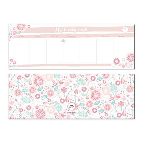 Notizblock Tischkalender/Querkalender 2019, immerwährender Kalender ohne Datum für den Schreibtisch mit 50 Blatt zum Abreißen. Wochenplaner undatiert ... zu Hause. Verpackt in passender Geschenkbox