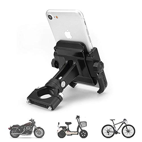 Fahrrad Handyhalterung, 360 Grad-drehbares Universal Metall Motorrad Handy-Halter für 3,5