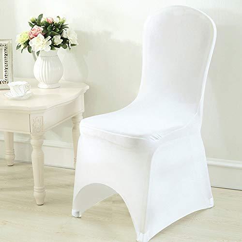 UNHO Stretch Stuhlbezug 50 Stück Stuhlhussen Stuhlüberzug für Hochzeit und Feiern Dekoration Malaya Cover