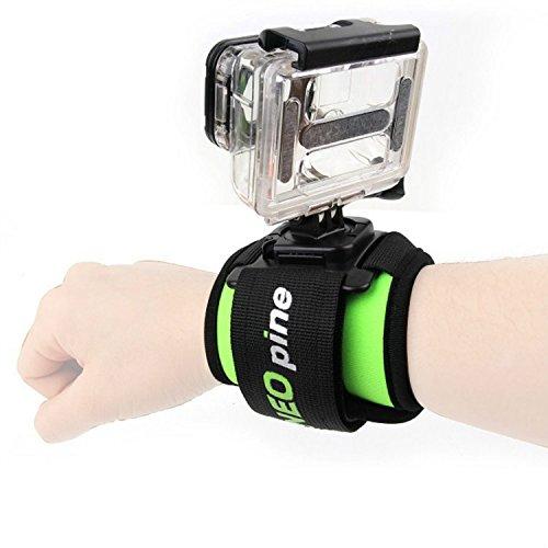 First2savvv GO-SD360-06 Rotazione di 360 gradi Cinghia cinturino da polso fascia da polso Custodia impermeabile con velcro per fotocamera GoPro Hero 1 2 3 3 + 4 5 6