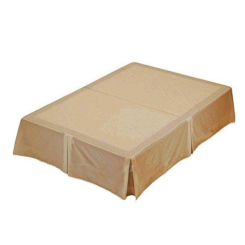 Mas international ltd, lenzuolo coprirete luxury, in poli cotone, policotone, latte, doppio