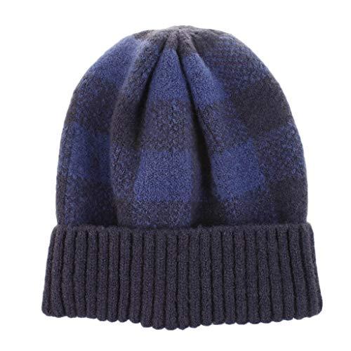 Poamen Haarbänder für Damen, 10 Stück, Vintage, elastisch, für Sport, warm, gestrickt, süßes Haaraccessoires Gr. 90, blau