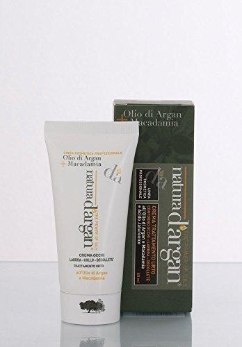 04124 - Crema Trattamento Urto - Contorno Occhi - Labbra - Decolletè all'Olio di Argan, di Macadamia e Acido Ialuronico ml 50