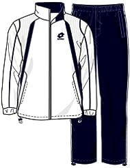 Lotto Sport Suit Seed Mi B, Garçon, Blanc/Bleu Marine
