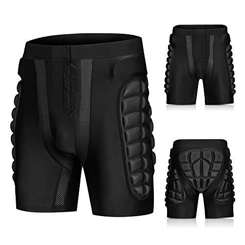 Blusea Pantaloncini Sci Protezioni da Snowboard, Protezione Imbottiti Pantaloni Uomo per Lo Sci Pattinare all'aperto