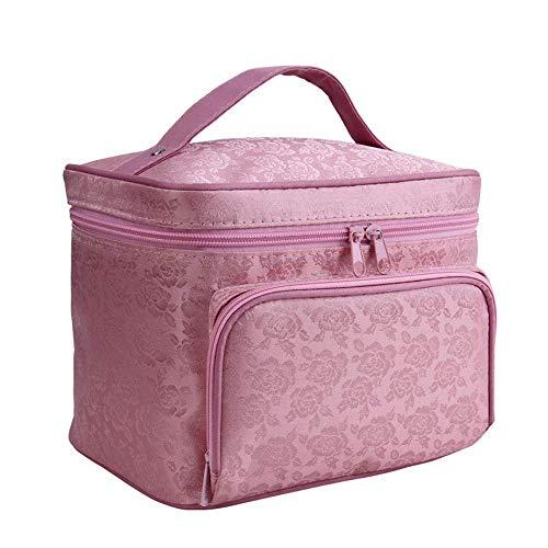 BAIF Multifunktionale wasserdichte Kosmetiktasche wasserdichte Reise große Kapazität tragbare Damen Aufbewahrungstasche Reißverschluss Portable Peony rosa -