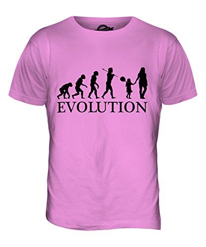 CandyMix Geburtstag Mädchen Evolution Des Menschen Herren T Shirt Rosa